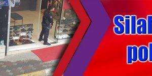 Silahlı şüpheliyi polis ikna etti
