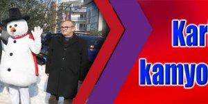 KarFest için 2 kamyon kar getirildi