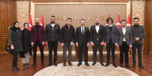 Trabzonlu gençlerden Vali Aksoy'a ziyaret