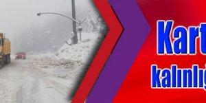 Kartepe'de kar kalınlığı 132 santimetre
