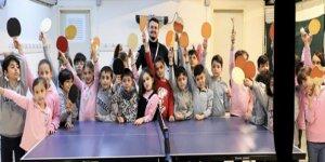 Masa tenisi kursuna öğrencilerden yoğun ilgi
