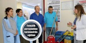 Temizlik personeline koronavirüs  eğitimi