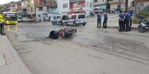 Motosiklet sürücüsü ağır yaralandı!