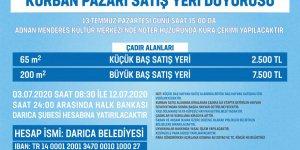 Darıca'da Kurban Pazarı alanı satışları başladı