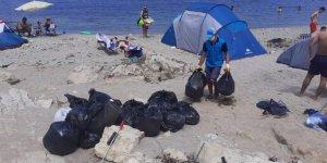 Sahillerden 250 ton atık toplandı