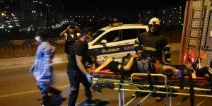 Gebze'de motosiklet devrildi: 1 ölü, 1 yaralı