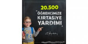20 bin 522 öğrenciye 3 milyon  liralık kırtasiye yardımı