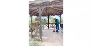 Gebze'deki yeşil alanlara periyodik bakım