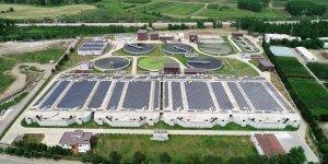 Güneş enerjisi santrali  havadan görüntülendi