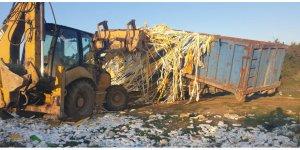Gebze'de kaçak atık döken firmaya ceza