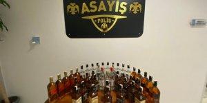 45 şişe sahte içki ele geçirildi