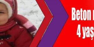 Beton mikserinin çarptığı  4 yaşındaki çocuk öldü