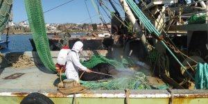 Covid-19 vakası görülen  iki tekne dezenfekte edildi