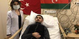 Azeri asker Kocaeli'de tedavi görüyor