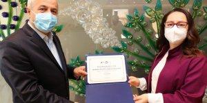 Çevreci kurumlara teşekkür belgesi