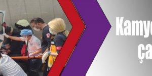 Kamyon Tıra arkadan çarptı: 1 yaralı