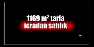 1169 m² tarla icradan satılık
