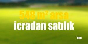548 m² arsa icradan satılık