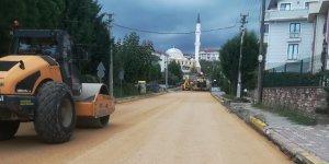 Sezai Karakoç Caddesi'nde üstyapı çalışmalarına başlandı