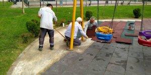 Darıca'da parklar çocuklar için güvenli hale getiriliyor