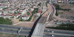 Köprünün  kiriş montajları tamamlandı