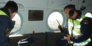 Kuzey Marmara'da helikopterli denetim
