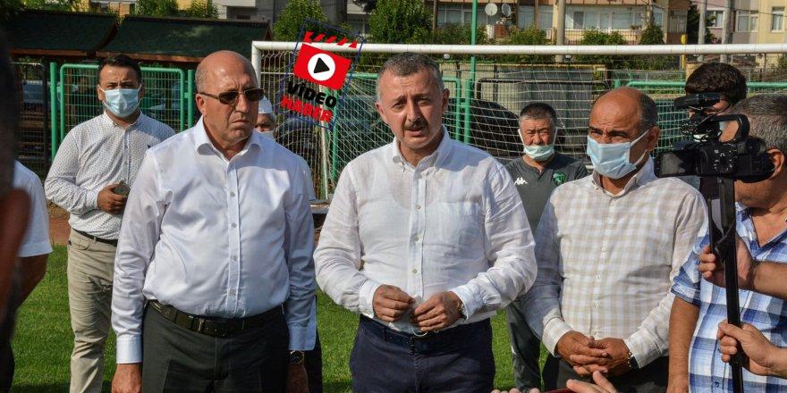Başkan Büyükakın'dan  Kocaelispor'a moral ziyareti