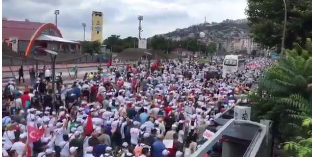 Adalet Yürüyüşü 20. gününde Kocaeli'de