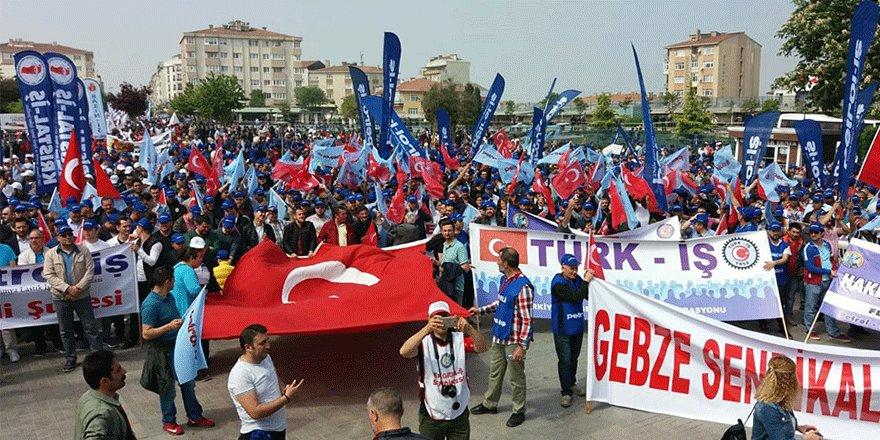 Gebze'de 1 Mayıs coşkusu