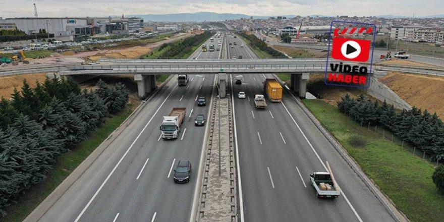 Gebze'de köprü bağlantısı 12 günde tamamlandı